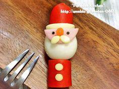 キャラ弁*簡単♪クリスマスうずらサンタの画像