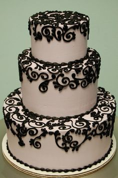 Black and white cake.