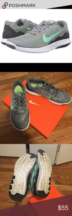 Basically BRAND NEW with box Nike running sneakers Worn twice to work inside carpeted office , never used for running , just purchased last week. Great sneakers just too small for me. Nike Shoes Athletic Shoes