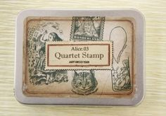 Wooden Rubber Stamp Kit  Alice In Wonderland Series by CharmTape, $5.98
