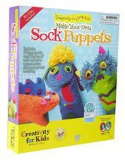 Creativity for Kids My First Sock Puppets - Hand Puppets for Kids - Mess Free and Travel Friendy Craft Kits For Kids, Art For Kids, Crafts For Kids, Craft Ideas, Puppets For Kids, Make Your Own, Make It Yourself, Sock Puppets, Marionette