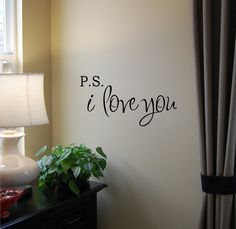 finally a wall vinyl that i like - PS I Love You Vinyl Wall Decal by Home Sweet Walls modern decals Vinyl Decor, Vinyl Wall Decals, Wall Decor, Nursery Decor, Ps I Love You, My Love, Pattern Wall, Personalised Wall Stickers, Love Wall Art