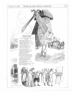 Windmill, Suffolk, Constable Country, Charming sketches,poem, print, A4,1927 | eBay