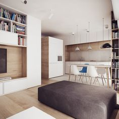 Studio apartment living is perfect for people who love simplicity. When there are no spare bedrooms or closets to pile full of junk you can truly have a more pe