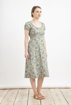 Morvoren Dress | Scoop neck cap sleeve summer dress - I like the fabric,  though