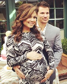 Pregnant Vanessa Minnillo and hubby Nick Lachey celebrated the baby shower for their second child on Saturday, Nov. 1 -- see the couple's sweet shot!