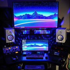 ideas for home Dope or not? Home Recording Studio Setup, Home Studio Setup, Studio Desk, Audio Studio, Music Studio Room, Home Studio Equipment, Gaming Room Setup, Gaming Rooms, Feng Shui