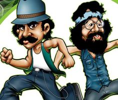 Image result for Cheech and Chong Cartoon