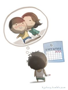 The countdown is over! I fly out today to see my love! Cute Chibi Couple, Cute Couple Cartoon, Cute Cartoon, Hj Story, Cute Love Stories, Love Story, I Miss You Quotes For Him, Chibi Cat, Distance Love
