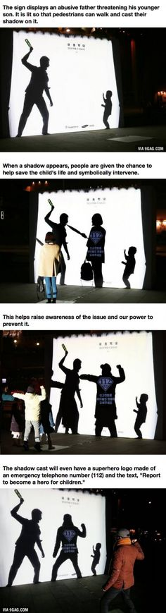 """This Powerful Interactive Billboard Shows The Horrors Of Child Abuse  