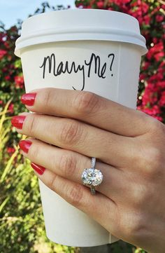 Just you, me, coffee! Perfect proposal for the coffee lovers and perfectly buzzed couple.