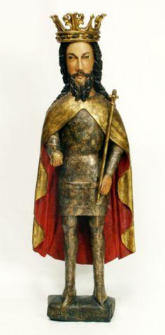 Figure of Casimir III the Great from Wiślica by Anonymous from Poland, ca. 1380, Muzeum Uniwersytetu Jagiellońskiego (MUJ)