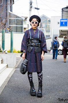 Harajuku Girl in Kimono & Harness
