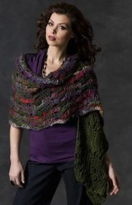 """Magical Multicolored Shawl Yarn Weight: (4) Medium Weight/Worsted Weight and Aran (16-20 stitches to 4 inches)  SIZE: One sits fits most. Shawl measures 18"""" (46 cm) x 72"""" (183 cm).  SUPPLIES:      RED HEART® BoutiqueTM MagicalTM: 3 balls 1621 Wizard.     Susan Bates® Crochet Hook: 8mm [US L-11].     Yarn needle"""
