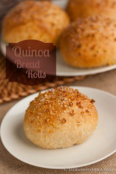 Quinoa Dinner Rolls- made with quinoa, whole wheat flour, and honey. These rolls are SO MOIST and fluffy!