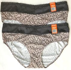 d1b0e7f3c3bf WARNERS HIPSTER LACE NO MUFFIN TOP PANTIES Size 9 2XL 2 PAIR Style 5609J NWT  #