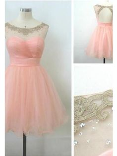 Bg955 Short Homecoming Dress,Tulle Homecoming Dress,Backless Homecoming Dress,Prom
