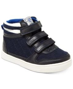 Carter's Terry High-Top Casual Sneakers, Toddler & Little Boys (4.5-3) - Blue 10 Toddler