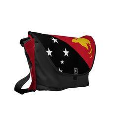 French Guiana Flag Crackled Design Messenger Bag