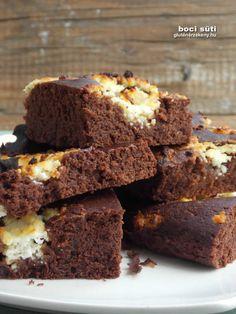 Boci szelet - kakaós -túrós gluténmentes sütemény 40 perc alatt Foods, Food Food, Food Items