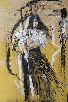 Femme au naginata