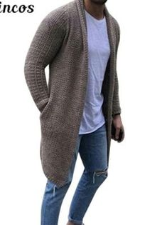 You searched for akolzol.com Sweater Coats, Sweater Cardigan, Men Sweater, Casual Sweaters, Long Sweaters, Cardigans, Track Suit Men, Sweater Fashion, Men's Fashion