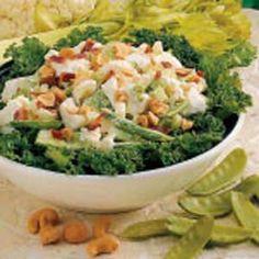 Cashew Snow Pea Salad Recipe