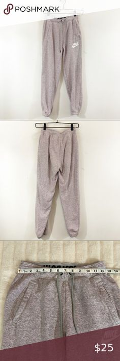 Nike Sweats/Joggers Pink Grey Heathered Pockets Nike sweatpants/joggers Size XS Heathered pink and grey Front pockets Gently used condition with no flaws Please see photos for details and measurements Nike Pants Track Pants & Joggers Nike Pants, Harem Pants, Jogger Sweatpants, Pink Grey, Nike Women, Pants For Women, Pockets, Track, Flaws