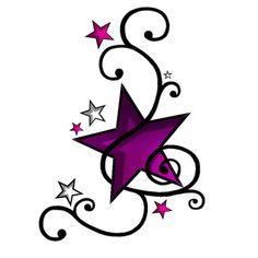 Heart Butterfly And Star Tattoo Designs Small Tattoos For Women Tattoo Foot Tattoos, Body Art Tattoos, New Tattoos, I Tattoo, Tatoos, Tattoo Quotes, Wrist Tattoos, Nautical Star Tattoos, Small Star Tattoos