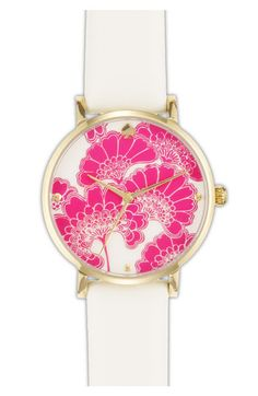 kate spade new york 'metro' patterned dial watch available at Nordstrom