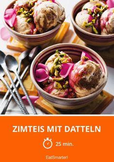 Zimteis mit Datteln | http://eatsmarter.de/rezepte/zimteis-mit-datteln