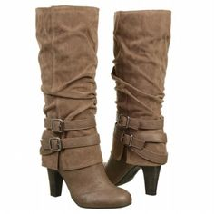 "Our topped pinned boot this month! FERGALICIOUS Women's ""Cruel"" boots. Just $69.99. #fall #boots #fergalicious"