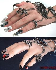Deadly jewelry. I'm such a sucker for shiny, pointy, chainy thangs