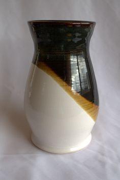 Medium Black & White Porcelain Vase. $25.00, via Etsy.