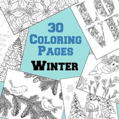 30 Winter Adult Coloring Pages From The By WhispersInNature