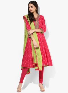 Buy Biba Pink Printed Salwar Kameez Dupatta online in India at best price.Truly ethnic and appealing is this pink suit set from BIBA. A must-have in your wardrobe, this suit set Churidar, Salwar Kameez, Kurti, Anarkali Dress, Anarkali Suits, Aishwarya Rai Photo, Designer Punjabi Suits, Pakistani Couture, Pink Suit