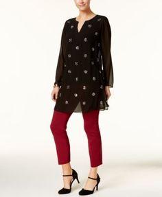 Alfani Tummy-Control Pull-On Capri Pants, Created for Macy's - Ivory/Cream 10