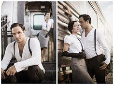 vintage, 1930's, portrait, train station, couple, nostalgic, photography, people, fashion, micah-kvidt, www.micahkvidt.com