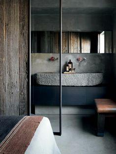 waschbecken aus antürlichem fluss-stein | gäste wc | pinterest, Hause ideen