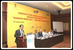 Shri C. H. Nadiger, Regional Director, EEPC India Addressing the participants.