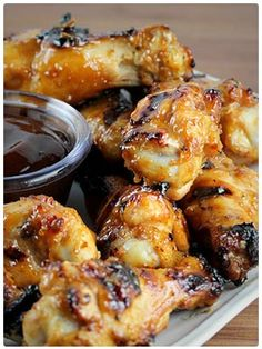 35 chicken recipes Grilled Honey Mustard Chicken Wings Recipe