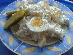 11 olcsó és laktató krumplisaláta | Mindmegette.hu Hungarian Recipes, Hungarian Food, Naan, Camembert Cheese, Dairy, Diet, Hungarian Cuisine