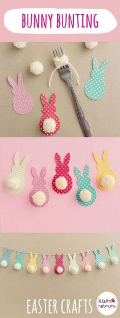 From fluffy pom pom chicks to decorated Easter eggs, these 15 easy Easter crafts. - From fluffy pom pom chicks to decorated Easter eggs, these 15 easy Easter crafts. Easter Art, Bunny Crafts, Easter Crafts For Kids, Toddler Crafts, Crafts For Teens, Crafts To Do, Flower Crafts, Paper Crafts, Easter Eggs