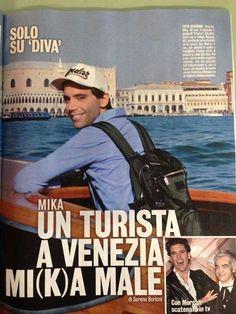 """Mika """"Un Turista A Venezia Mi(k)a Male"""" - Diva e Donna magazine - Nov 19 2013 - Italian - page 1 of 3"""