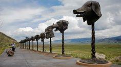 Ai Wei Wei's Zodiac Heads, In Jackson, Wyoming