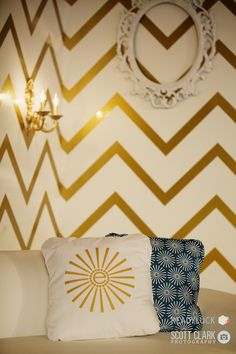 Chevron paneling and branded cushions  #Engage12