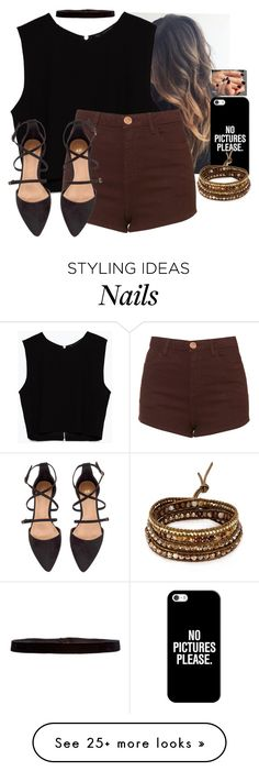 """♥️♥️♥️♥️"" by hannahmcpherson12 on Polyvore featuring Casetify, Zara, Topshop, Chan Luu, Steve Madden and H&M"
