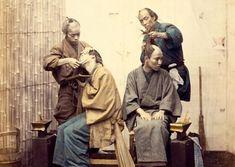髪結い ka-11479 江戸時代末期の散髪屋さん
