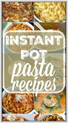 Here are 17 easy Instant Pot pasta recipes to get you started with your pressure cooker! Simple soups and main dishes with pasta in them that we love. via paleo dinner instant pot paleo dinner crockpot Instant Pot Pasta Recipe, Best Instant Pot Recipe, Instant Pot Dinner Recipes, Instant Recipes, Pressure Cooking Recipes, Crock Pot Cooking, Cooking Bacon, Pasta Recipes, Crockpot Recipes