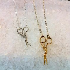 Image of Stork Scissors Necklace